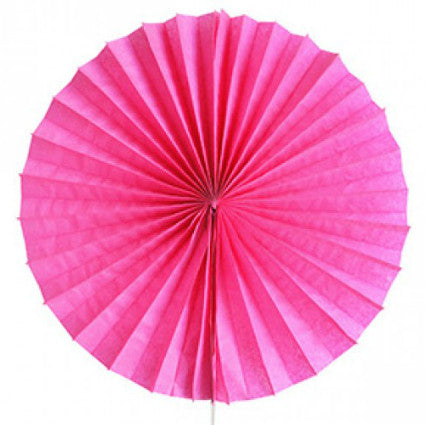 fuschia pink tissue paper fan
