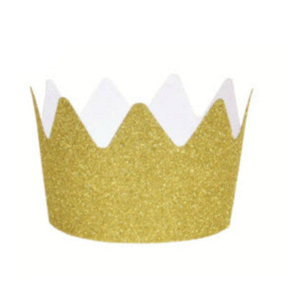 gold glitter party crown