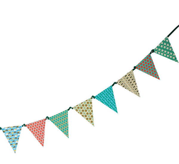 Outdoor summer garden bunting
