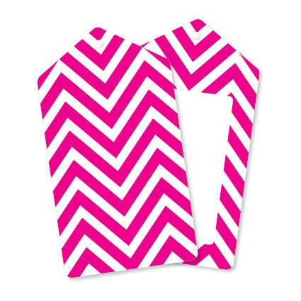 Hot pink chevron gift tags
