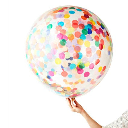 giant confetti filled party balloon