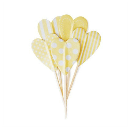 Limoncello heart cake toppers