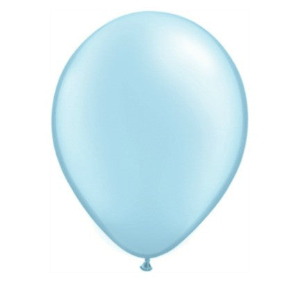 "pack of 6 11"" light blue pearl balloons"
