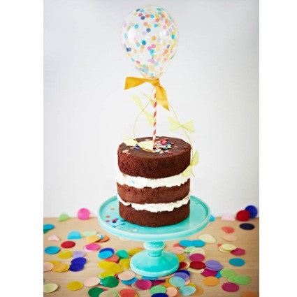 mini confetti balloon cake topper