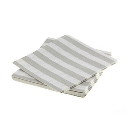 Natural Candy stripe napkins for baby showers