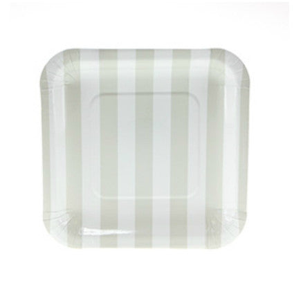 Natural Candy Stripe plates