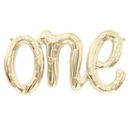 one white gold foil balloon 30 inch