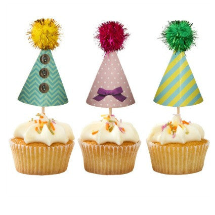 Party Hat Cake Toppers