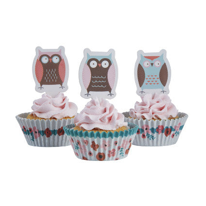 Patchwork Owls cake kit
