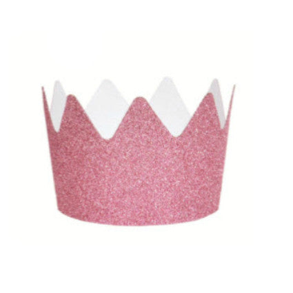 pink princess glitter crown