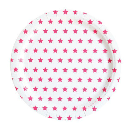 Party Stars pink star plates