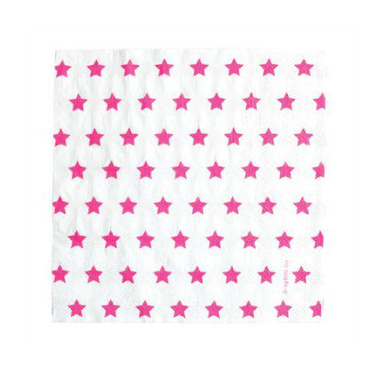 Party Stars! Pink party napkins