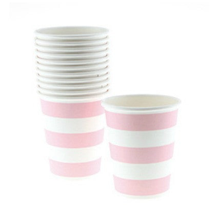pink stripe party cups