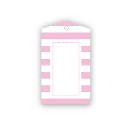 pink candy stripe gift tags
