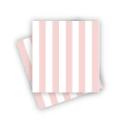 pink stripe party napkins