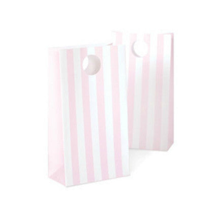 Baby pink stripe party bags
