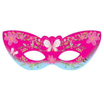Pink Princess party masks
