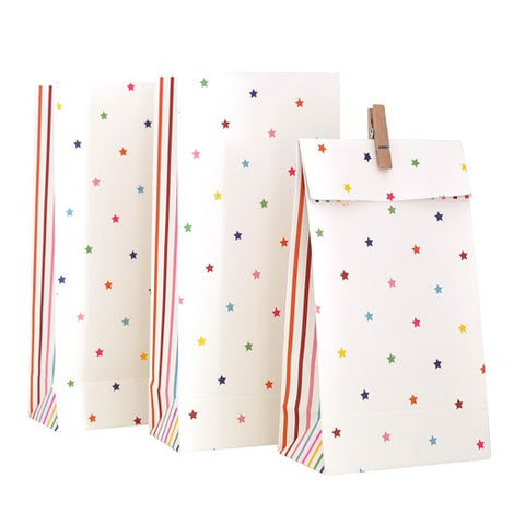 rainbow stars and stripes treat bags