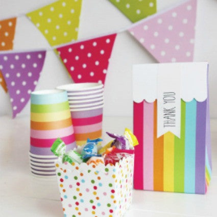 rainbow party bunting by sambellina