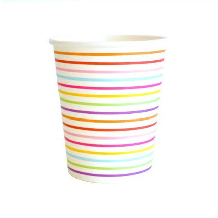 rainbow stars party cups