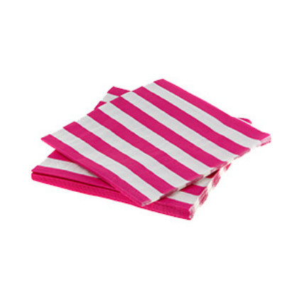 Raspberry stripe napkins