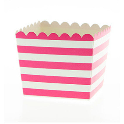 Raspberry stripe treat boxes