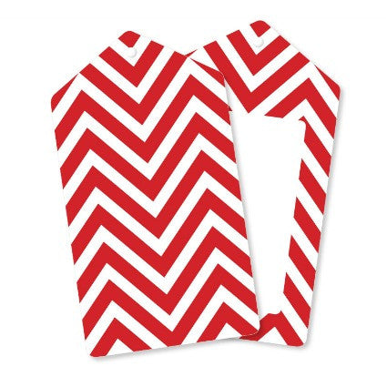 red chevron gift tags