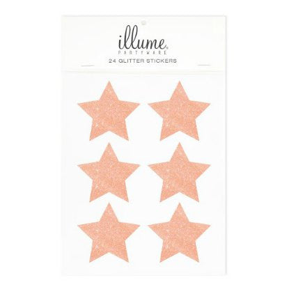 rose gold glitter silver stars seal stickers