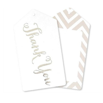 silver thank you gift tags