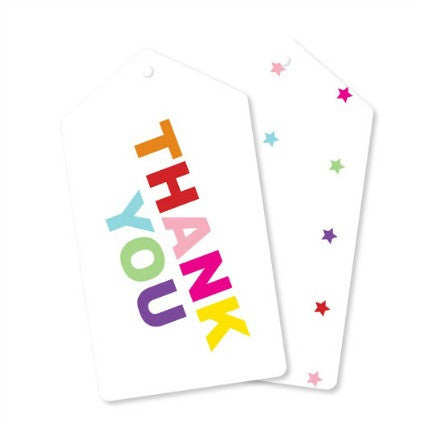 rainbow party thank you tags