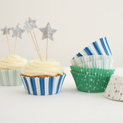toot sweet blue and silver cupcake kit