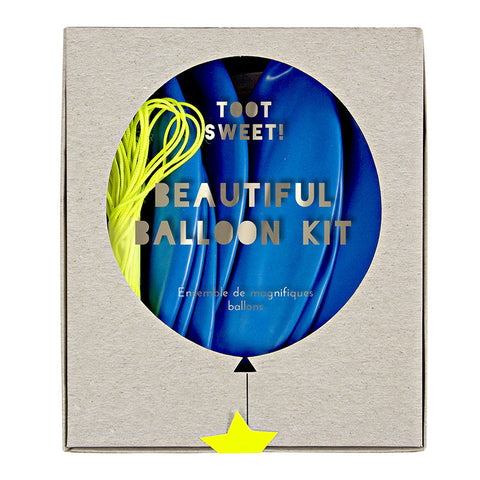 toot sweet blue party balloons kit