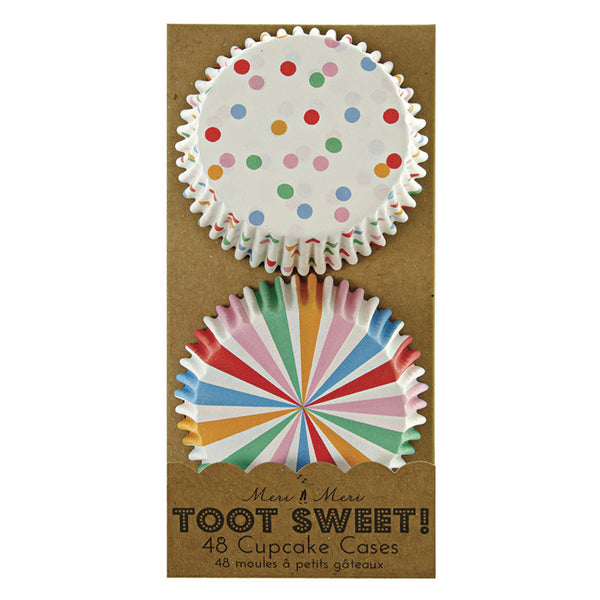 toot sweet multi-coloured cupcake cases