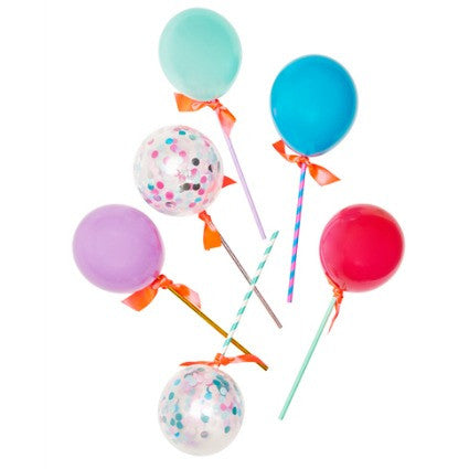 Unicorn balloon wands
