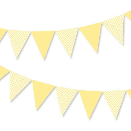 Yellow chevron bunting