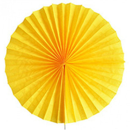 yellow tissue paper hanging fans
