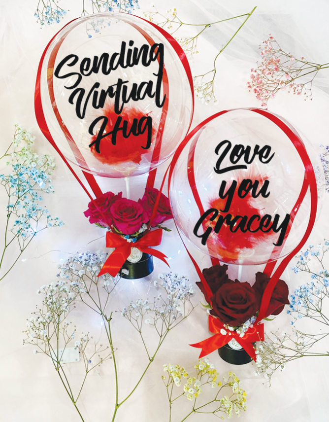 I LOVE YOU Mini Hot Air Balloon Bouquet