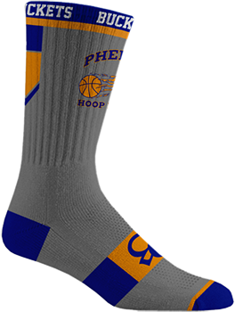 Phenom Hoop Report Socks - Grey