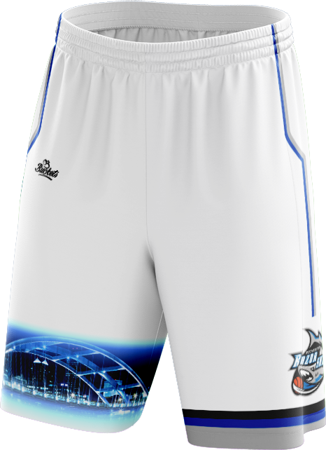 Youth Razorshark Gill Streak Shorts - White
