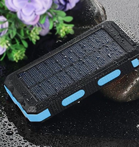 Solar Power Bank 20000mah Waterproof LED External Battery Portable Charger