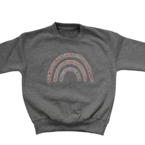 Childs Liberty Rainbow Jumper - Pink colour way