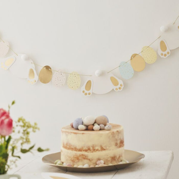 BUNNY AND EGG EASTER BUNTING DECORATION