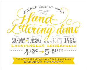 Hand-Lettering Demos at the National Stationery Show