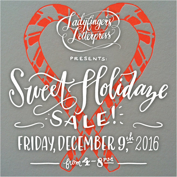 Ladyfingers Letterpress Sweet Holidaze Sale