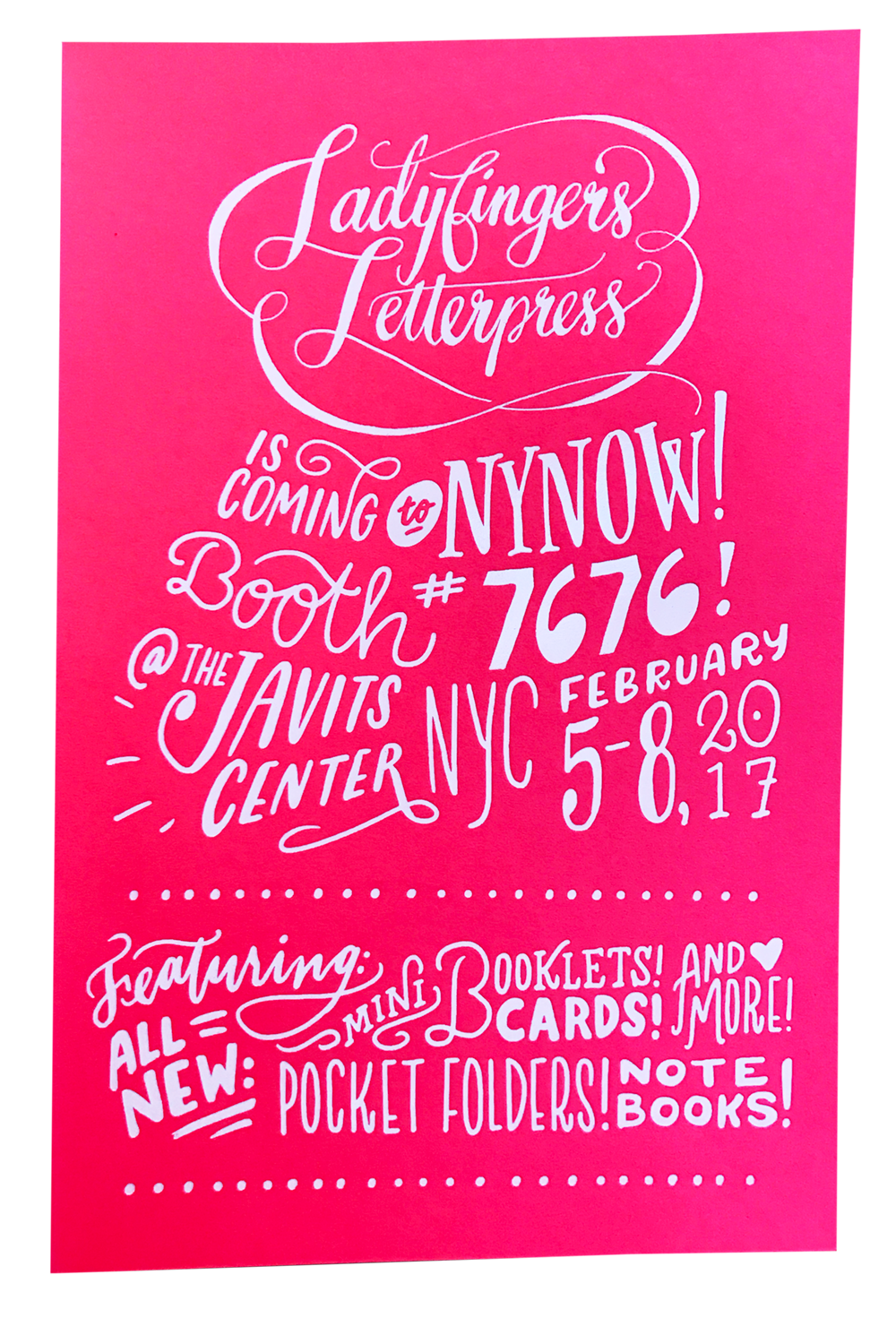 Ladyfingers Letterpress NYNOW Booth 7676