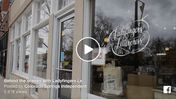 Ladyfingers Letterpress Video - Colorado Springs Independent