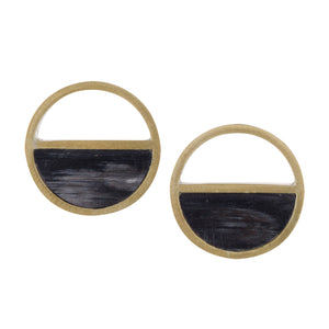 Black Luna Earrings by Faire Collection