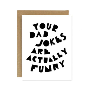 Dad Jokes Card by Worthwhile Paper