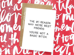 Why We're Best Friends Card - by Honest AF Cards