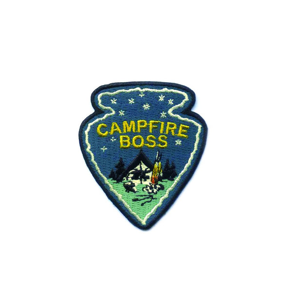 Campfire Boss Embroidered Patch by Antiquaria